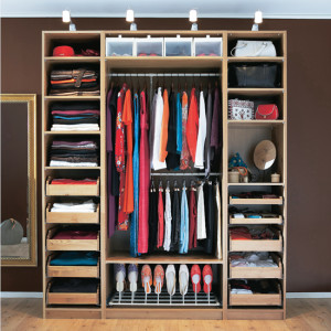 Well organised wardrobe