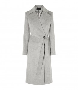 Karen Millen Grey Wool Coat