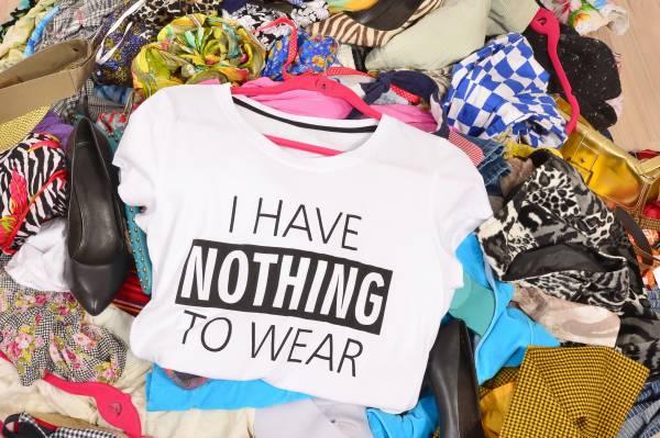 Jumble of clothes