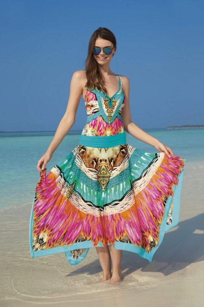 Colourful beachwear